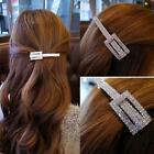 Womens Bobby Pin Full Rhinestones Crystal Barrette Hair Clip Hairpin Accessories