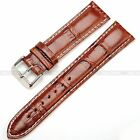 KS Official Black High Quality Genuine Leather 20 22 24 MM Watch Band Strap +Pin