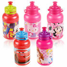 Kids 400ml Disney Non Drip Spill Sports Pull Top Lid Bottle Drinks Water Childs
