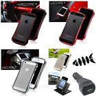 DRACO Aluminum Case Bumper+Dash Holder+BLK Car Charger+Wrap For iPhone 5 5S