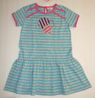 NWT HANNA ANDERSSON Comfy Beach Dress 80 Blue/Gray Stripes 12-24 FREE SHIPPING