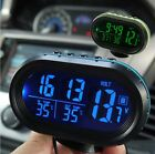 Car Inside Outside Thermometer Voltage Meter LCD Clock Alarm Calendar