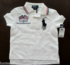 NWT Ralph Lauren Boys S/S Big Pony Britain Mesh Rugby Shirt 2t 3t 4t NEW $50 4a