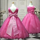 USM2D59A Fuchsia Formal Communion Evening Flower Girl Dress 1to13Yrs