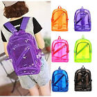 New Hot Fashion PVC Transparent Clear Plastic School Student Book Bag Backpack