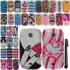 For Samsung Galaxy Stellar Jasper I200 DIAMOND BLING HARD Case Phone Cover + Pen