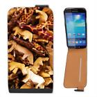 Wooden Safari Animals Leather Flip Case for Samsung S4