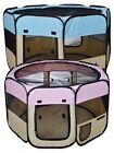 "45"" Portable Pet Dog Cat Soft Tent Kennel Playpen 2 Doors Exercise Folding Crate"