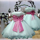 USM2D70 White Fuchsia Pageant Easter Wedding Flower Girls Dress Ages 1 to 14 Yrs