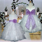 USM1D75 Purple Baby Formal Occasion Pageant Party Flower Girls Dress Age 1 to 14