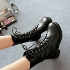 Women's Cool Lace Up Rivet Punk Motorcycle Military Combat Ankle Calf Boots @98