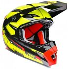 Casque Enduro De Motocross Lazer MX8-Carbon Adults Geotech MX - Jaune Fluo/Rouge