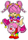 """6.5-10.5"""" RAINBOW BRITE SPRITE CHARACTER WALL SAFE STICKER BORDER CUT OUT"""