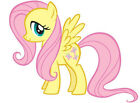 """6.5 -9.5"""" MY LITTLE PONY FLUTTERSHY WALL STICKER GLOSSY BORDER CHARACTER CUT OUT"""