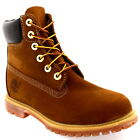 "Womens Timberland 6"" Premium Lace Up Rust Leather Original Ankle Boots UK 3-9"
