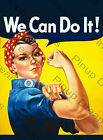 """Vintage Wartime Poster """"Riveting Rosie"""" We Can Do it, Retro re-print A4, A3."""