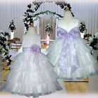 UKMD75 Lilac Dance Formal Wedding Girls Dress 1,2,3,4,5,6,7,8,9,10,11,12,13, 14