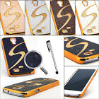 Deluxe Gold Chrome S Bling Slim Hard Case Cover for Samsung Galaxy S4 IV i9500