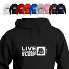 Sci Fi Fan Star war Darth Gift Hoodie Hooded Top Eat Live Breathe Sleep Sci Fi