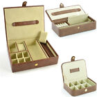 Mele for Men Rochester Brown Croco Faux Leather Gents Organiser / Cufflink Box