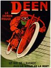 5731.Deen.le demon rouge.red bicycle rider.racing.POSTER.art wall decor