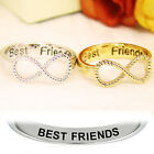 Gold/Silver Letter Best Friends Engraved Friendship Infinity Ring Women Jewelry