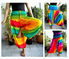 HAREM PANTS JUMPSUIT GENIE HIPPY YOGA GOA BAGGY - RAINBOW