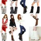 Women Faux Fur Soft Lower Leg Warmer Muffs Boot Shoes Ankle Sleeves Cover B20E