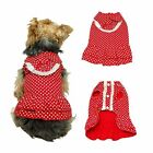 Adorable Dog Cat Pet Summer Party Layer Dress Skirt Clothes Cotton Polka Dot