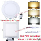 Dimmable 6W 9W 12W 15W 18W 21W LED Panel Ceiling light Downlight Lamp+AC Dirver