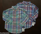 NWT Ralph Lauren Boys Long Sleeved Brushed Cotton Plaid Shirt 8 10/12 14/16 4d
