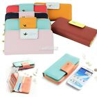 New Long Wallet Purse Card Phone Case For Samsung N7100 Note 2 iPhone 5