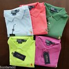 NWT Ralph Lauren Mens Short Sleeved Custom Fit Solid Mesh Polo Shirt S M L XL