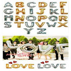 hc080e38 NEW Mylar Foil Balloons Letters A-Z Alphabet Wedding Party Decoration