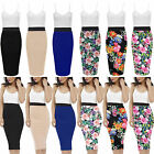 Fashion Womens Dress Adjustable Strap Contrast Floral Midi Pencil Bodycon Skirt