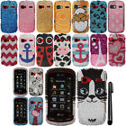For LG Rumor Reflex LN272 DIAMOND BLING CRYSTAL HARD Case Phone Cover + Pen