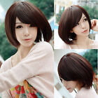 New Womens Lady Short Straight Full Wig Hair Bobo Cute Cosplay Party Costume