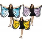 Butterfly Wings Costume Accessory Adult Womens Soft Fabric Halloween Fancy Dress