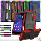 Sony Xperia Z2 Shockproof Shock Proof Stand Defender Reinforced Builders Case