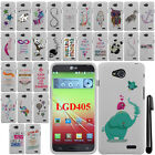 For LG Optimus L90 D405 D415 Art Design PATTERN HARD Case Phone Cover + Pen
