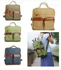 Fashion Vintage Canvas Travel Backpack Rucksack Shoulder Satchel School Handbag