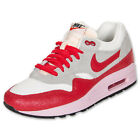Nike Air Max 1 Vintage 555284-103 Pink Red White Shoes Size 8.5 US New Rare WMNS
