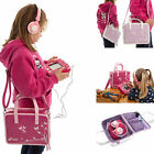 Girls Travel Vinyl PU Handbag Storage Case with Headphones for Vtech InnoTab Max