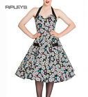 HELL BUNNY Rockabilly 50s CALAVERAS DRESS Roses Sugar Skulls All Sizes
