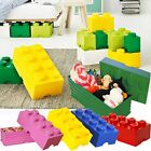 Large Kids Lego Storage Brick 8 Childrens Kids Toy Clothes Chest Boxes Stackable