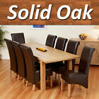 100% Solid Oak Dining Table Set Extending with 6 8 10 Chairs 180cm 225cm 270cm