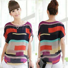 1PC Sexy Women Summer Perspective Casual Loose Chiffon Tops Blouses T-Shirt Nice