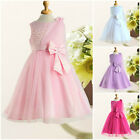 Pinks Princess Christmas Wedding Party Flower Girls Dresses SIZE AGE 1 to 12Year