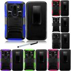 For LG G Vista VS880 Rhino Holster Combo Impact Cover Phone Case Stylus