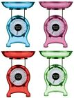 Space Kitchen Weighing Scales Plastic 1kg In 4 Funky Colours Red Pink Blue Green